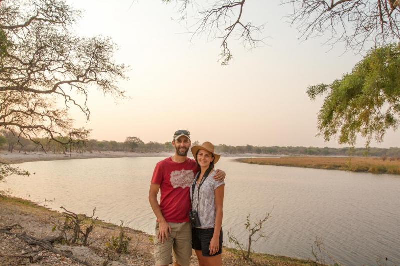 John and Natalie - Horseshoe Lagoon,BwabwataNational Park
