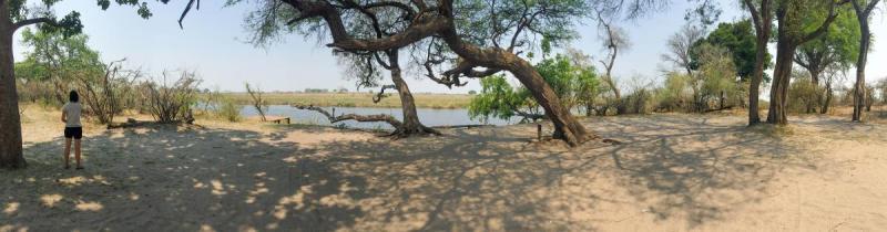 Nambwa Campsite on the Kwando River, Bwabwata National Park