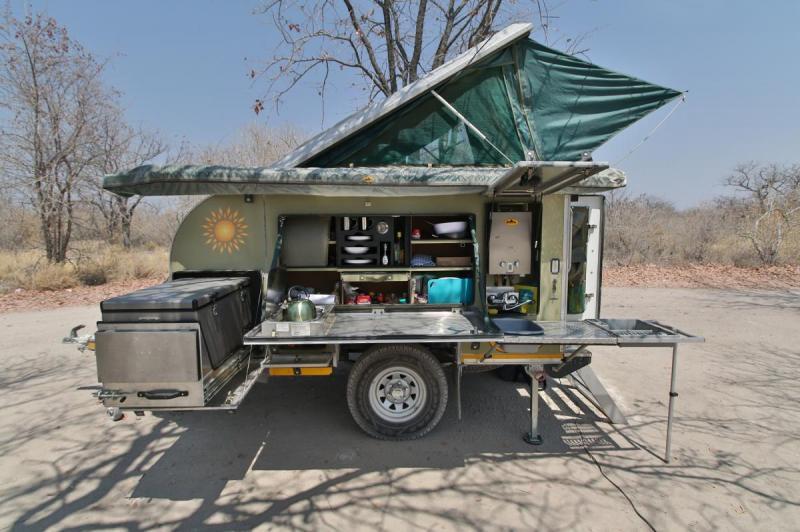 The trusty Bushwakka Sundowner off-road caravan